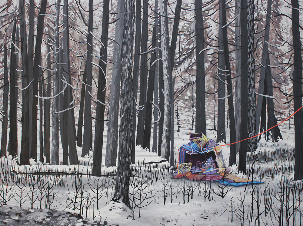 Sisters Wilderness, 48 x 36, 2012, oil on wood. In the collection of M. Hopkins, Mequon, WI.<br><a href=&#039;http://www.saatchiart.com/art/Painting-Sisters-Wilderness/206881/1500702/view&#039; target=&#039;_blank&#039;>Purchase Prints</a>