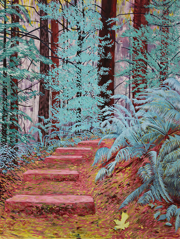 Wildwood Trail, 36 x 48, 2012, oil on wood. In a private collection, Vacaville, CA.<br><a href=&#039;http://www.saatchiart.com/art/Painting-Wildwood-Trail/206881/1500902/view&#039; target=&#039;_blank&#039;>Purchase Artwork</a>