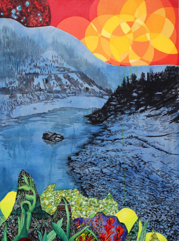 Autumn Solar Flares, 48 x 36, 2015, acrylic on canvas.<br><a href=&#039;http://www.saatchiart.com/art/Painting-Autumn-Solar-Flares/206881/2555878/view&#039; target=&#039;_blank&#039;>Purchase Artwork</a>