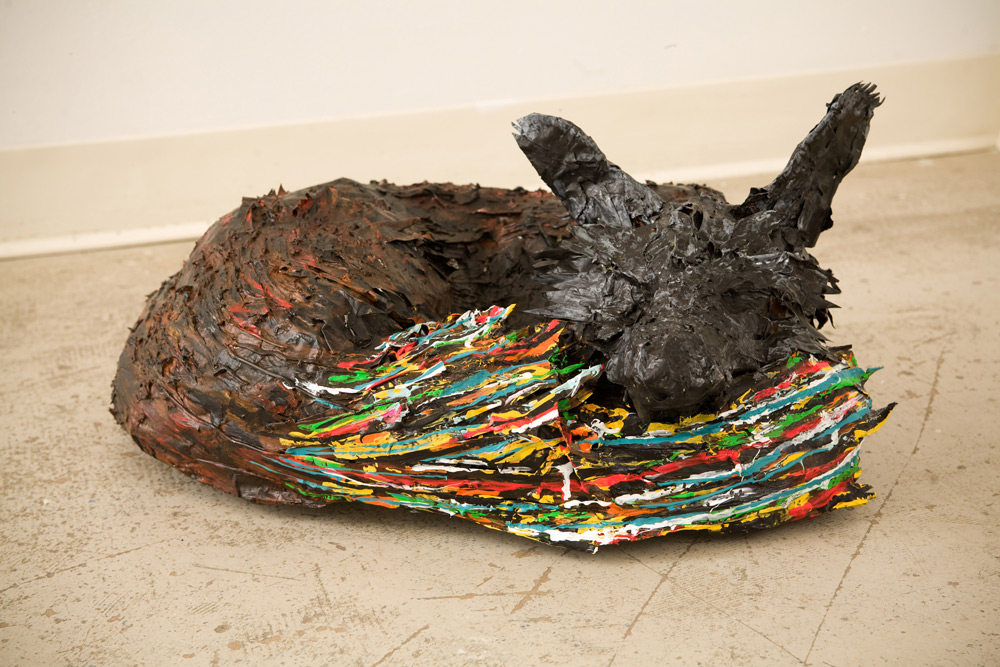 Fox, 30inx30in, 2009, Paper mache and silicone-In the collection of Aris Georgiatis and Gail Simpson