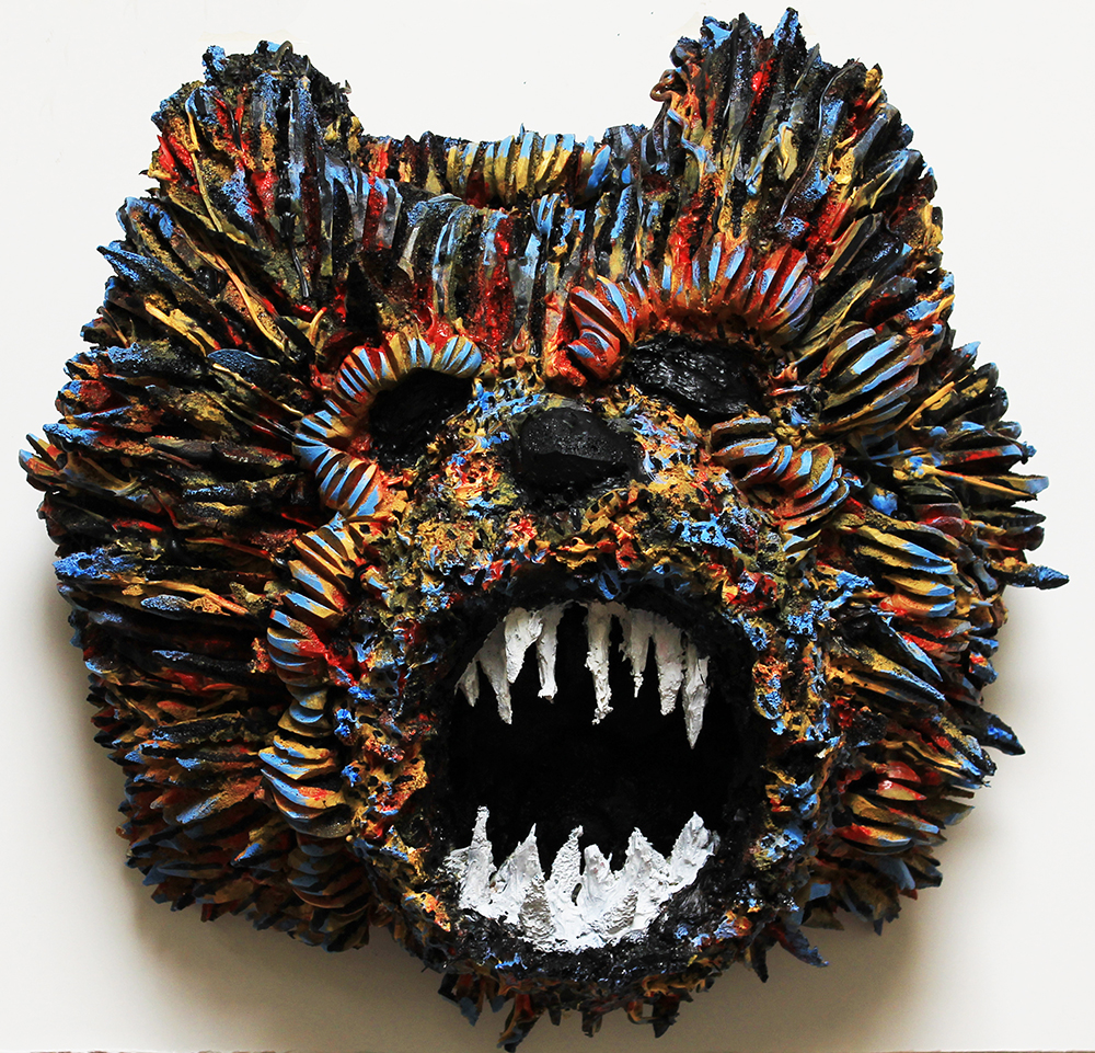 Bear, 24 x 24 x 10, 2014, Foam, silicone, and acrylic paint.