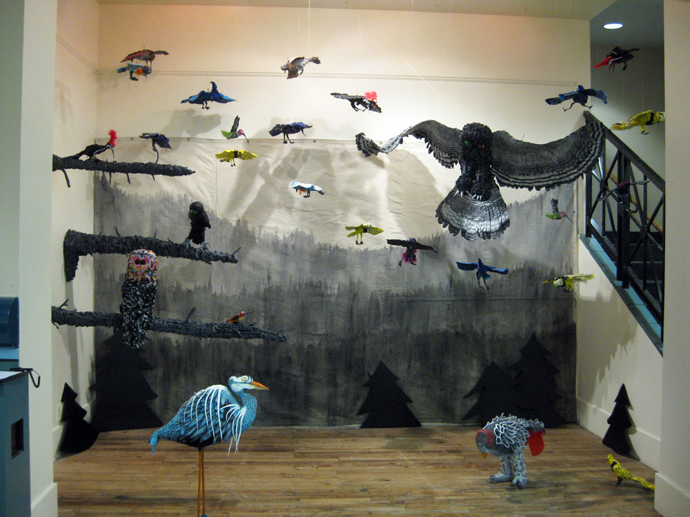 Mountains, 2013, Glass installation - PNCA 214 Gallery
